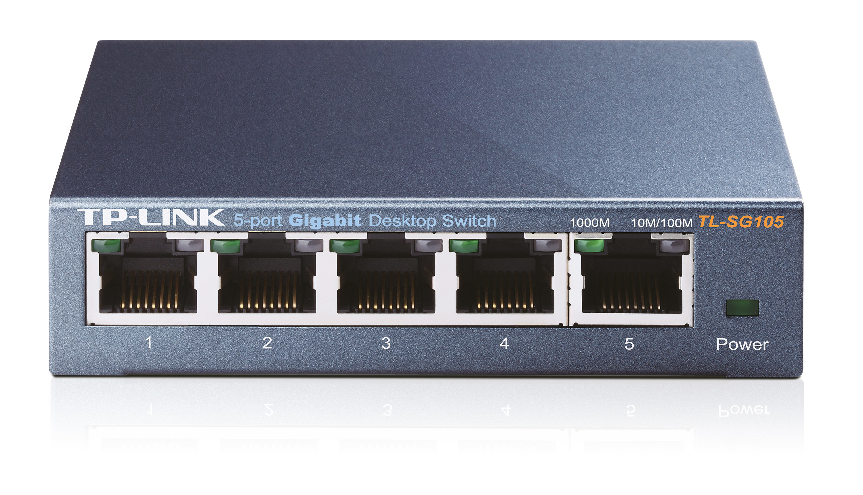 TP-LINK TL-SG105 5-Port Metal Gigabit Switch - Switch - nicht verwaltet