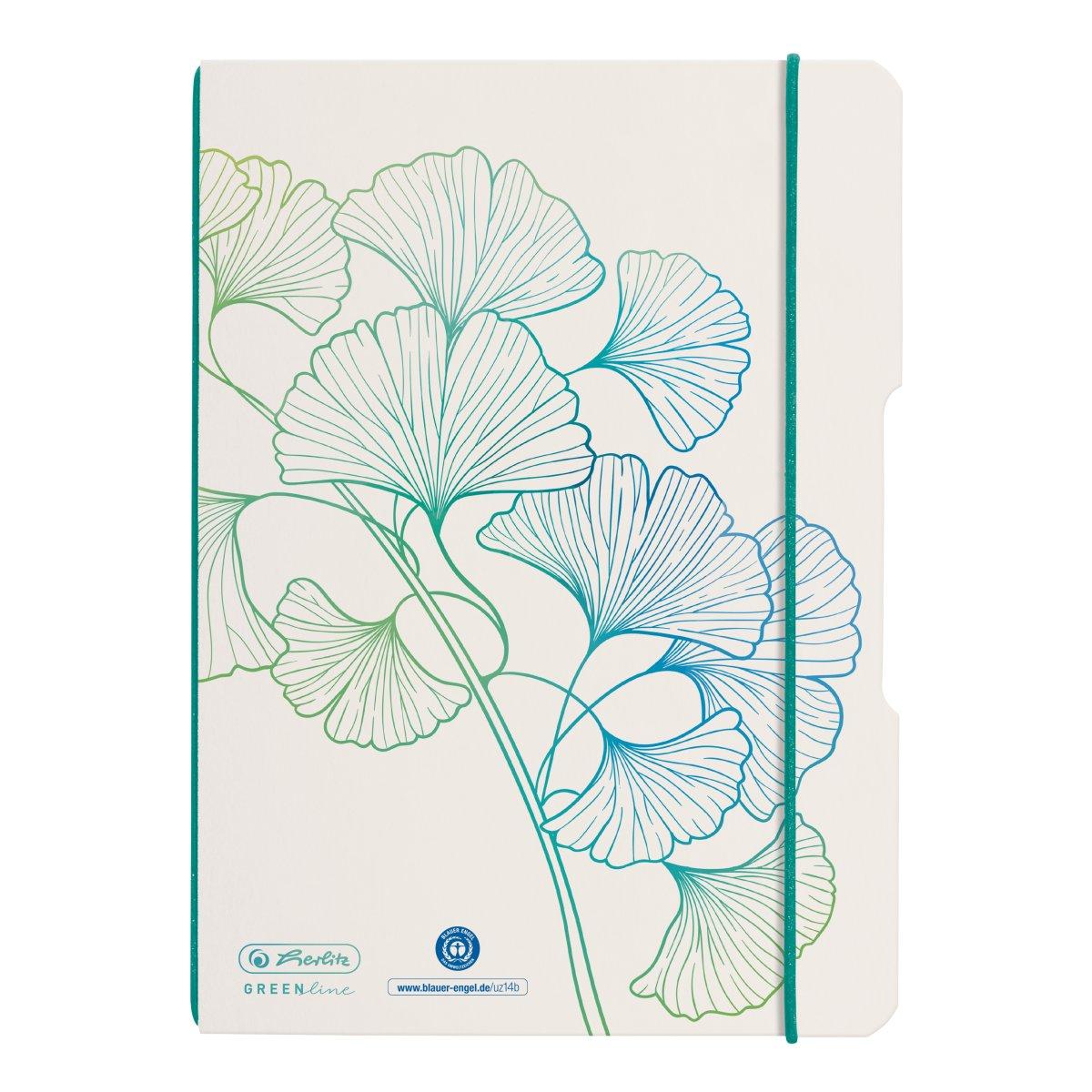 Herlitz my.book flex - Muster - Weiß - A5 - 40 Blätter - Punktgitter-Papier - Erwachsener