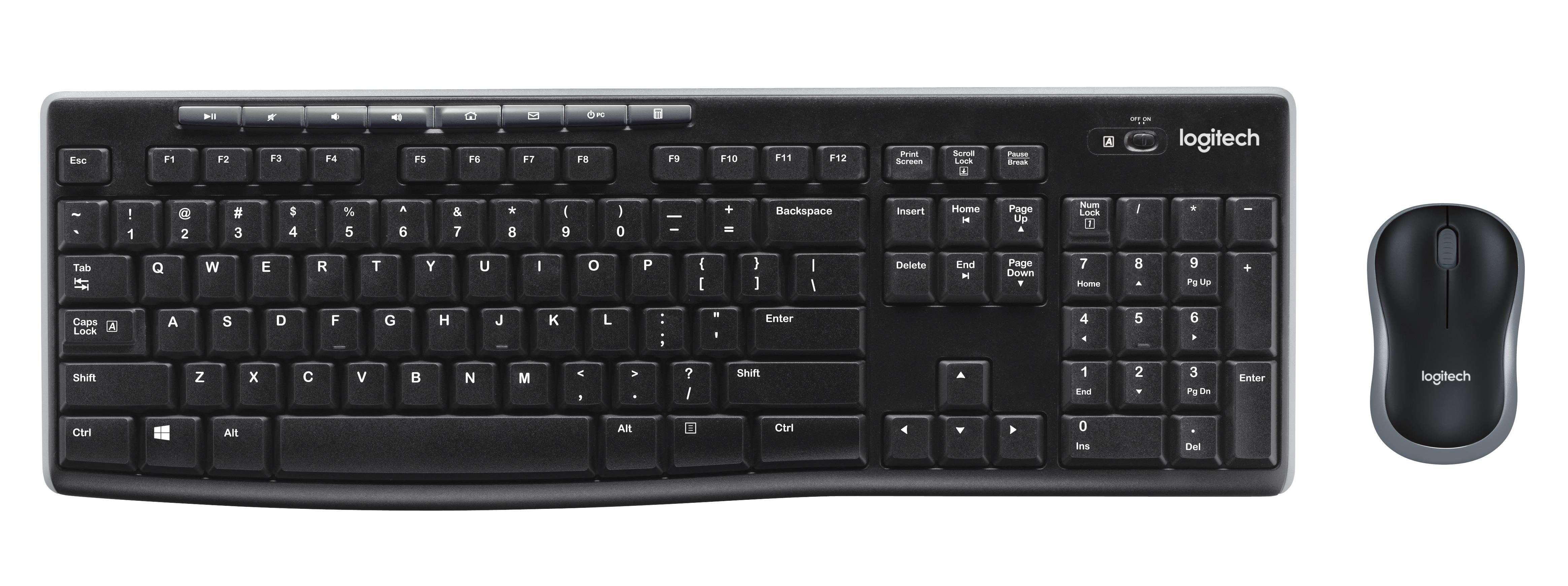 Logitech MK270 RF Wireless QWERTY UK Englisch Schwarz Tastatur