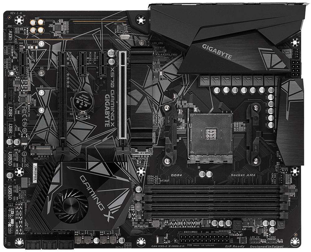 Gigabyte X570 GAMING X (rev. 1.0) - AMD - Socket AM4 - AMD Ryzen - DDR4-SDRAM - DIMM - 2133,2400,2667,2933,3200,3300,3333,3400,3466,3600,3733,3800,3866,4000 MHz