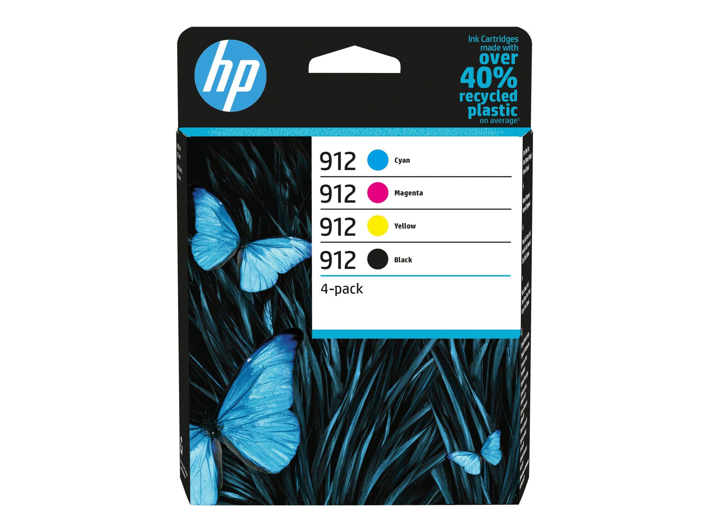 HP 912 Combo Pack - 4er-Pack - Schwarz, Gelb, Cyan, Magenta