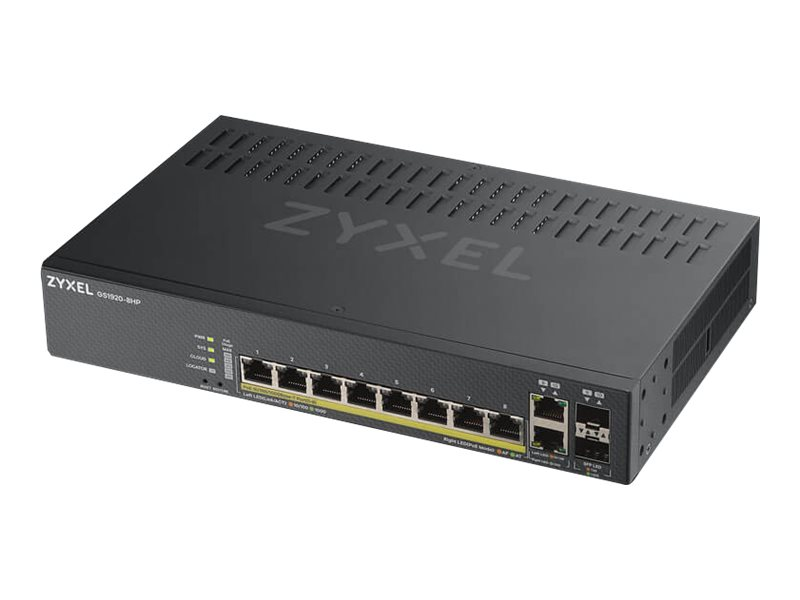 ZyXEL GS1920-8HPv2 - Switch - Smart - 8 x 10/100/1000 (PoE+)