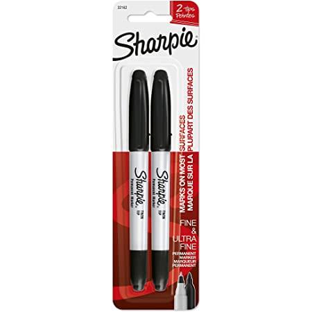Sharpie Marker Ultra Fine Extra Fein schwarz 2er Blister