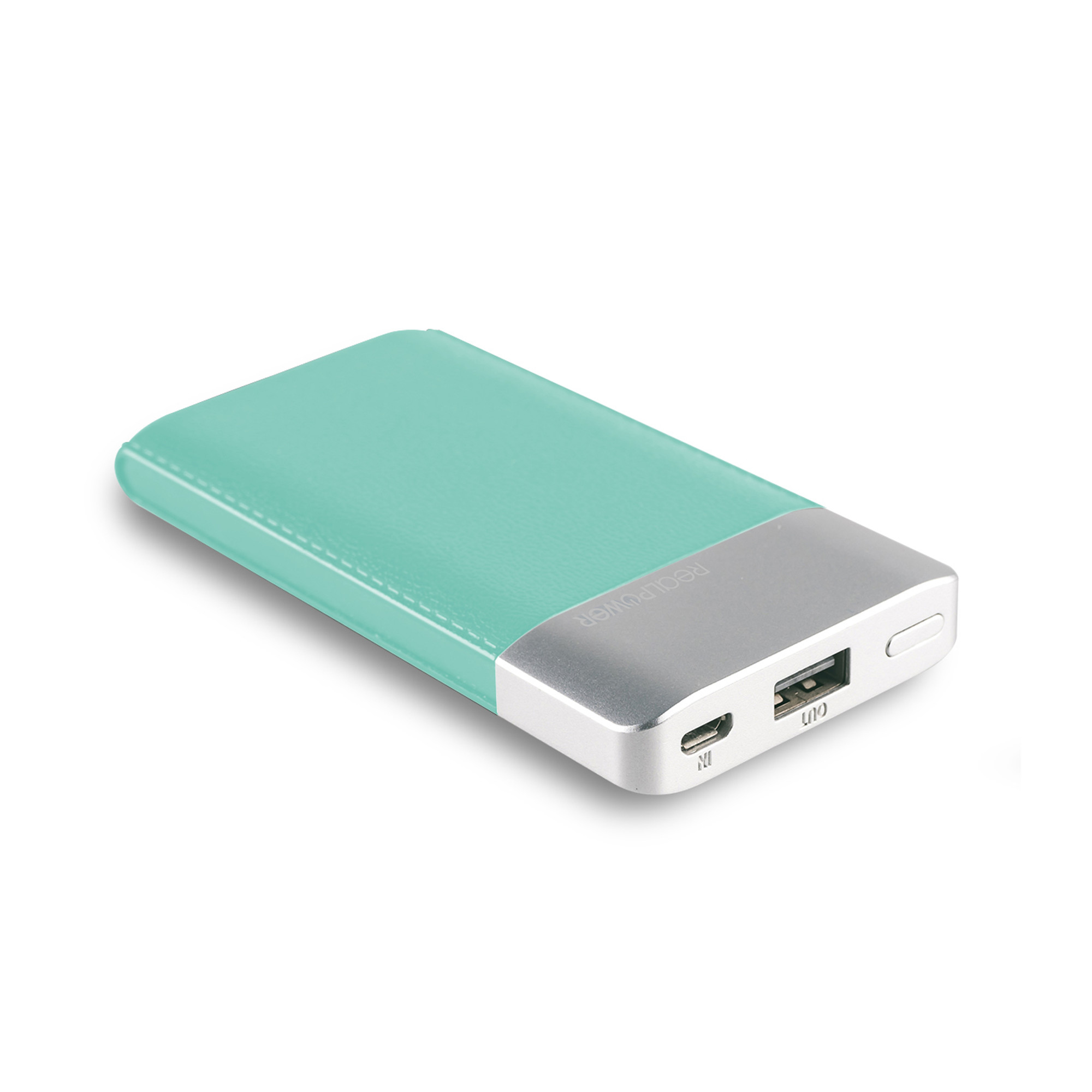 RealPower PB-4000 Fashion - Blau - Silber - Universal - Rechteck - Lithium Polymer (LiPo) - 4000 mAh - USB
