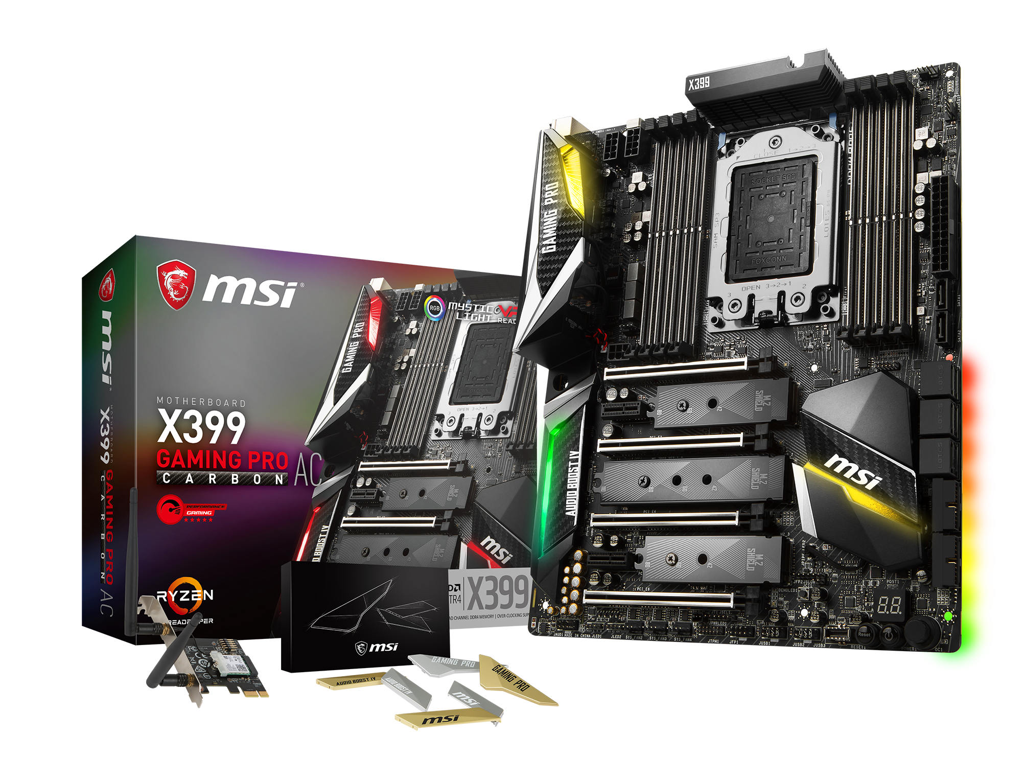 MSI X399 GAMING PRO CARBON AC - Mainboard - ATX