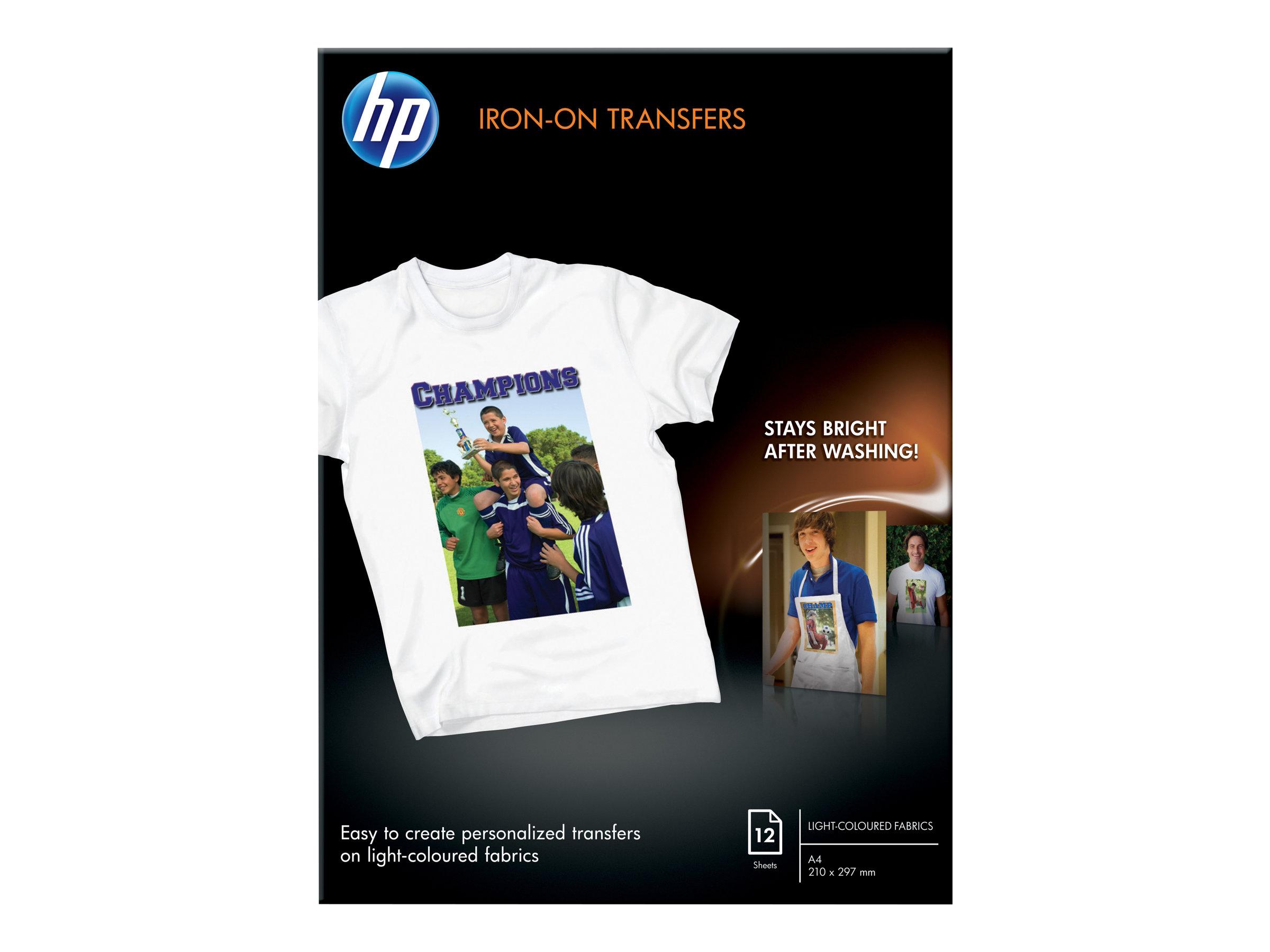 HP A4 (210 x 297 mm) 12 Stck. Transferpapier zum Aufbügeln