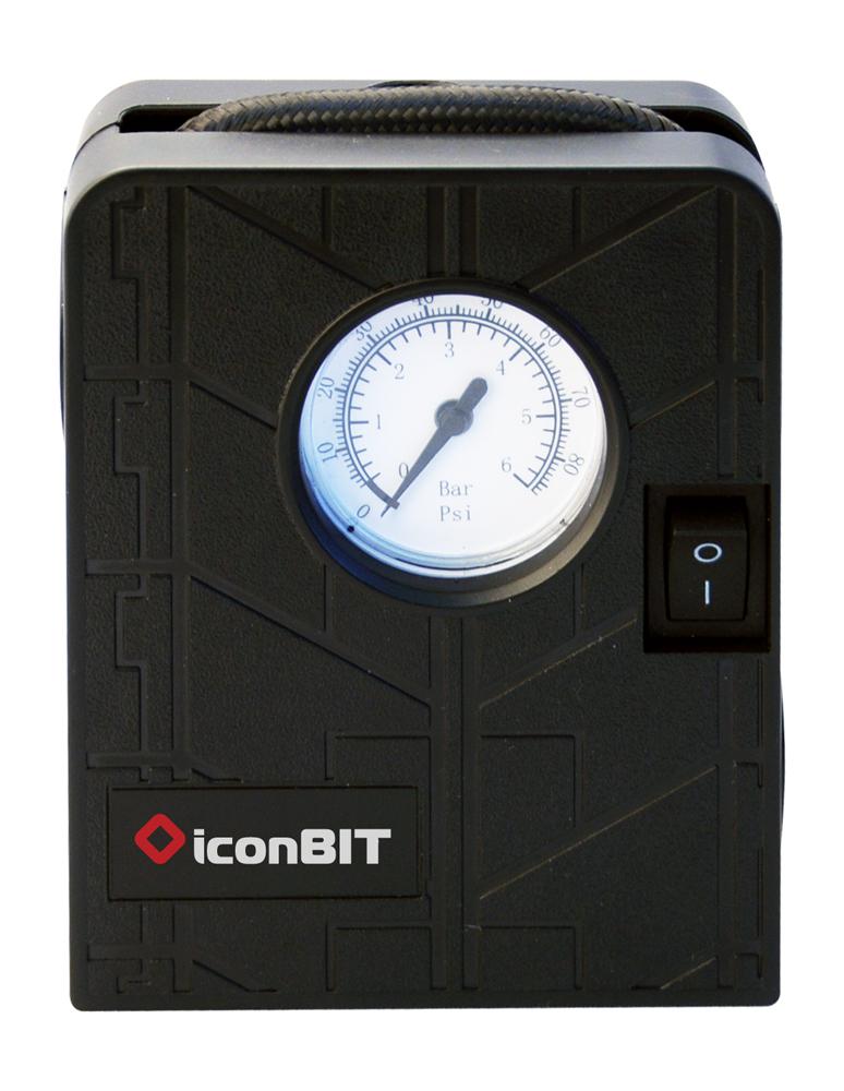 iconBIT Spark - 5,5 bar - Schwarz - Universal - DC/Cigar lighter - 12 V - 90 mm