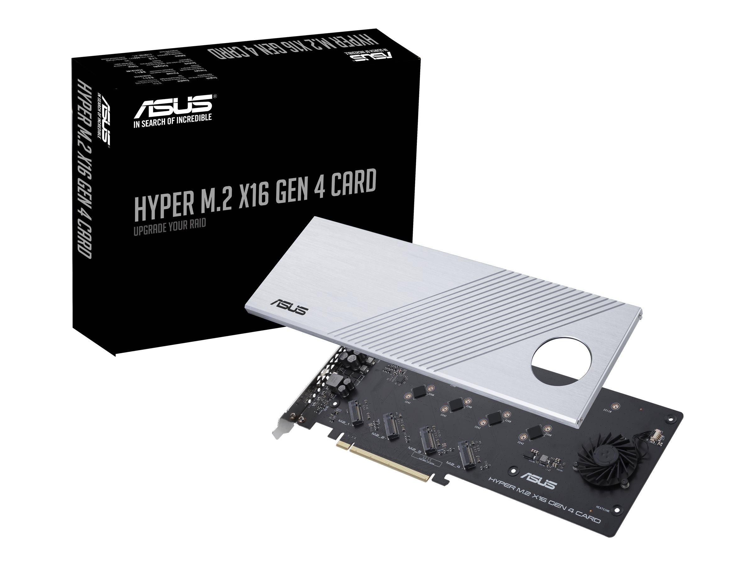Vorschau: ASUS HYPER M.2 X16 GEN 4 CARD - Schnittstellenadapter