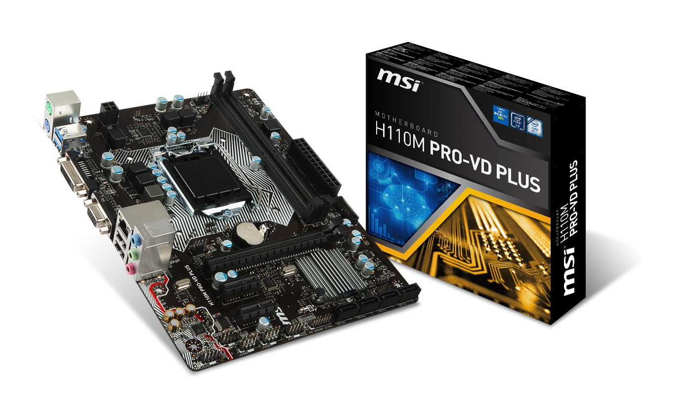 MSI H110M PRO-VD PLUS - Motherboard