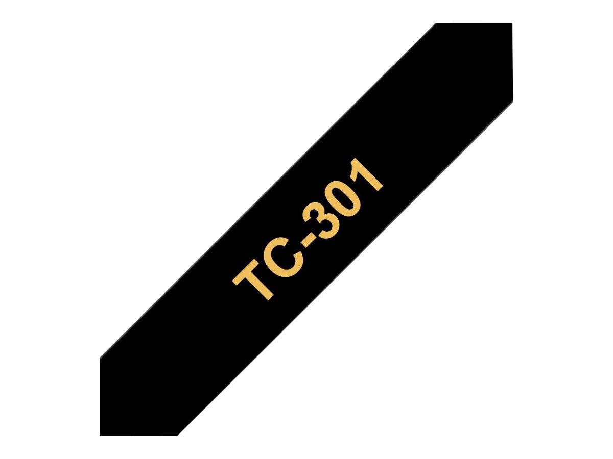 Brother TC301 - Gold auf schwarz - (1 Rolle(n)