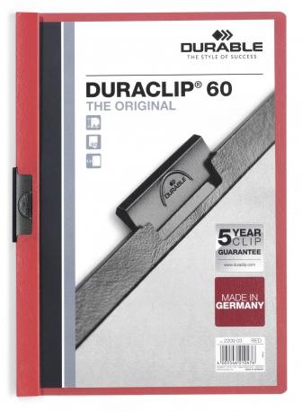 Durable Duraclip 60 - Rot - Transparent - PVC - 60 Blätter - A4 - 1 Stück(e)