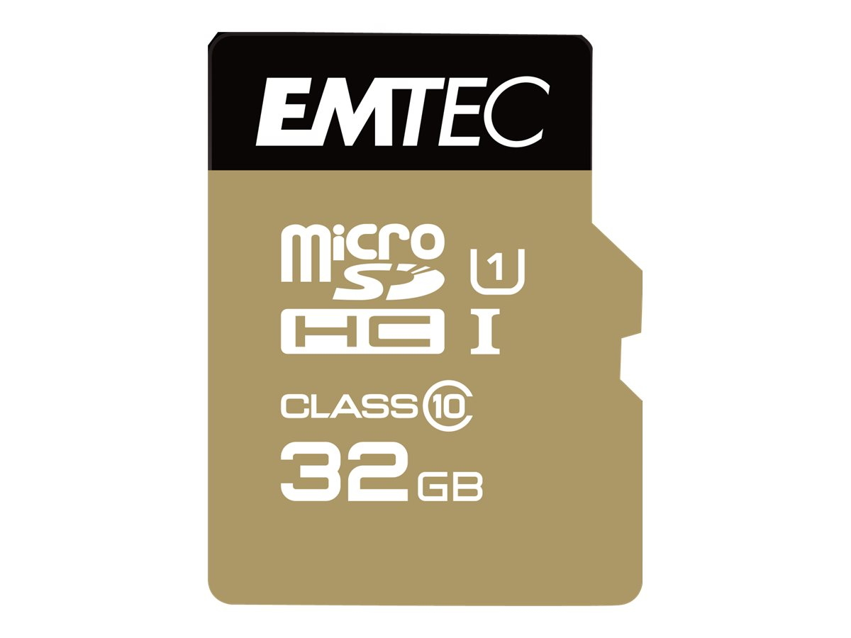 EMTEC Gold+ - Flash-Speicherkarte (SD-Adapter inbegriffen)