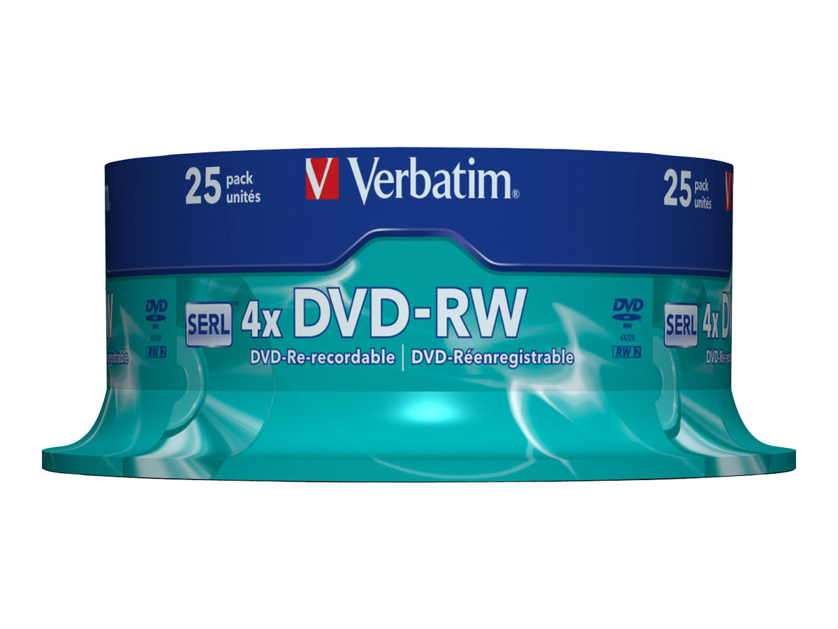 Verbatim 25 x DVD-RW - 4.7 GB (120 Min.) 4x