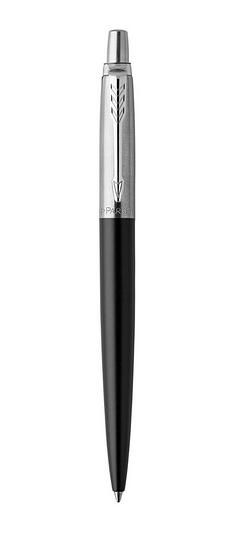 PARKER 1953184 - Schwarz - Chrom - Blau - Clip-on retractable ballpoint pen - Rund - Edelstahl - 1 Stück(e)