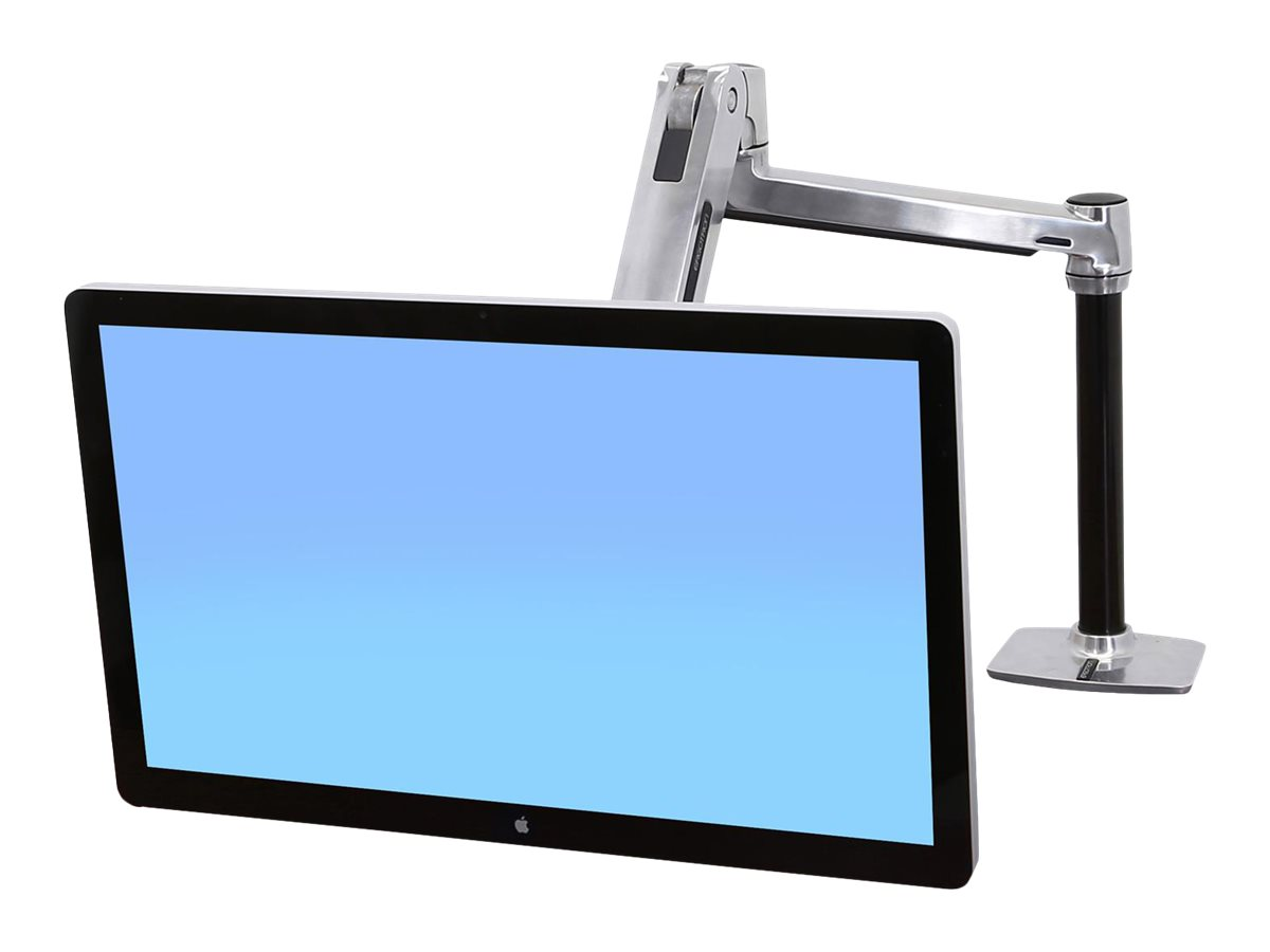 Ergotron LX HD Sit-Stand Desk Mount LCD Arm - Befestigungskit - für LCD-Display - verriegelbar - Aluminium - Polished Aluminum - Bildschirmgröße: bis zu 116,8 cm (bis zu 46 Zoll)