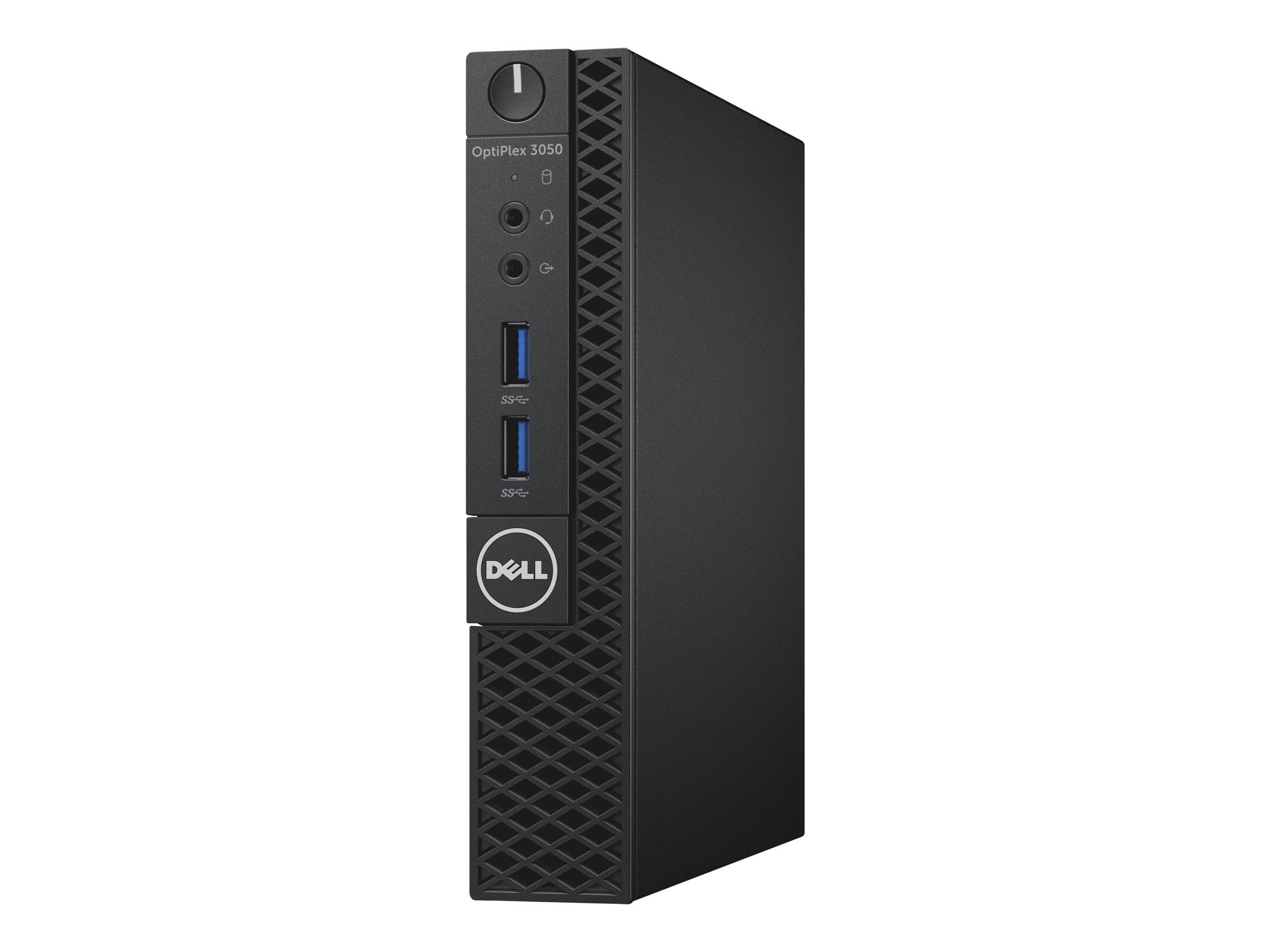 Dell OptiPlex 3050 - Micro - 1 x Core i3 7100T / 3.4 GHz RAM 4 GB - HDD 500 GB - HD Graphics 630 - GigE - Win 10 Pro 64-Bit - Monitor: keiner - BTS