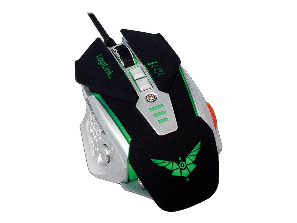 LogiLink Gaming - Maus - optisch - 8 Tasten - kabelgebunden