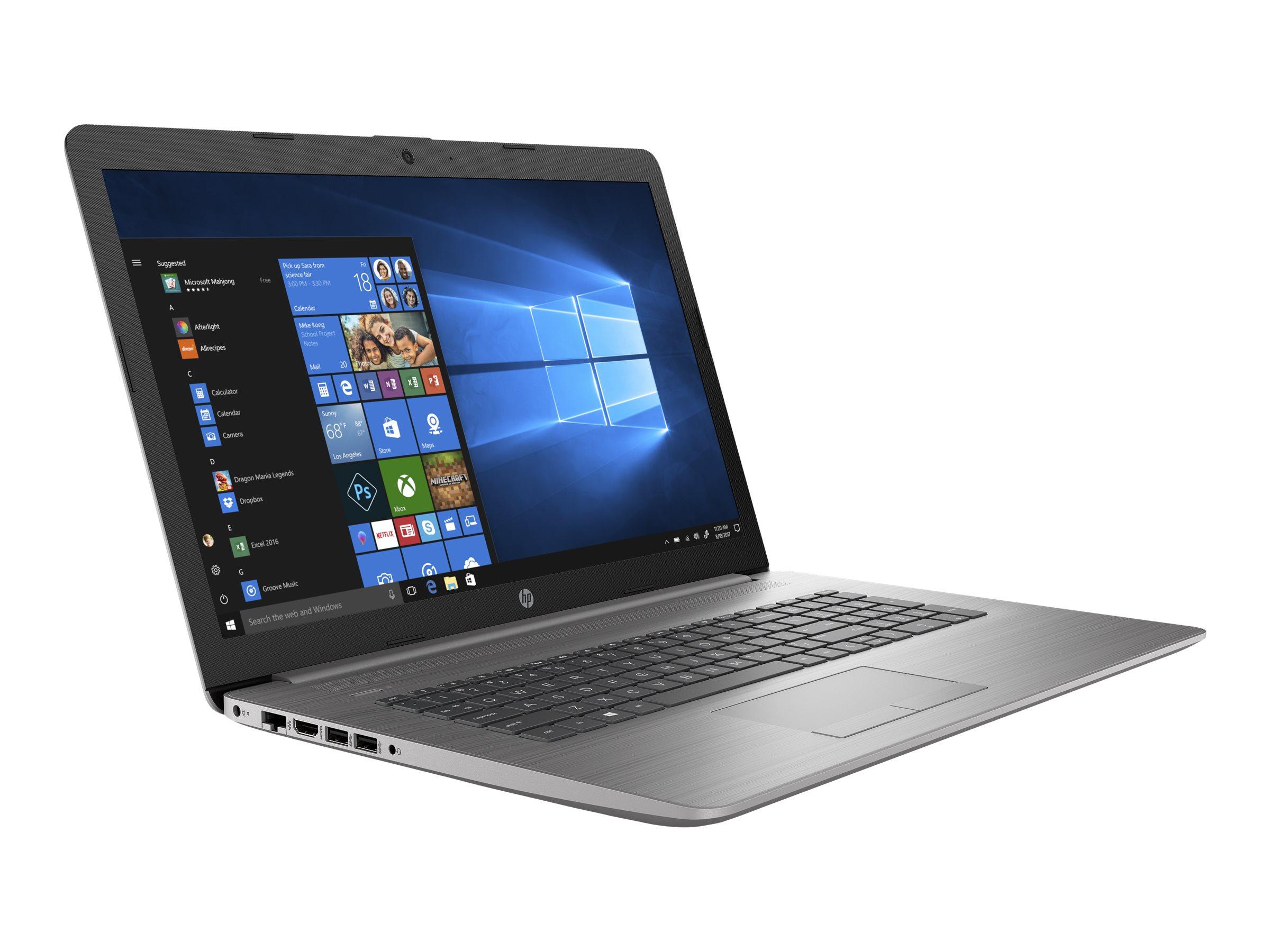 """HP 470 G7 - Core i5 10210U / 1.6 GHz - Win 10 Pro 64-Bit - 8 GB RAM - 256 GB SSD NVMe + 1 TB HDD - 43.9 cm (17.3"""")"""