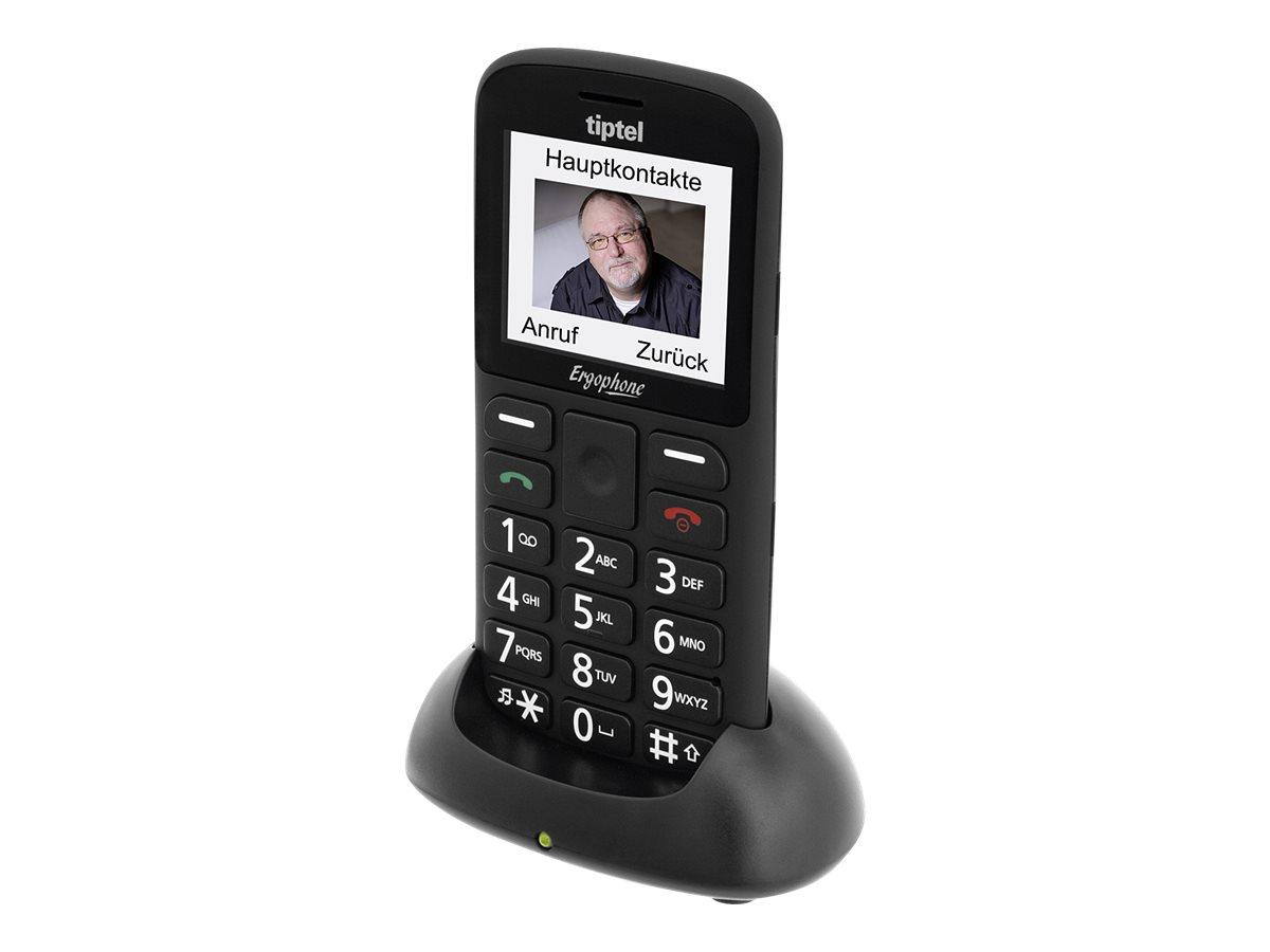 Tiptel Ergophone 6180 2.2Zoll Schwarz Einsteigertelefon