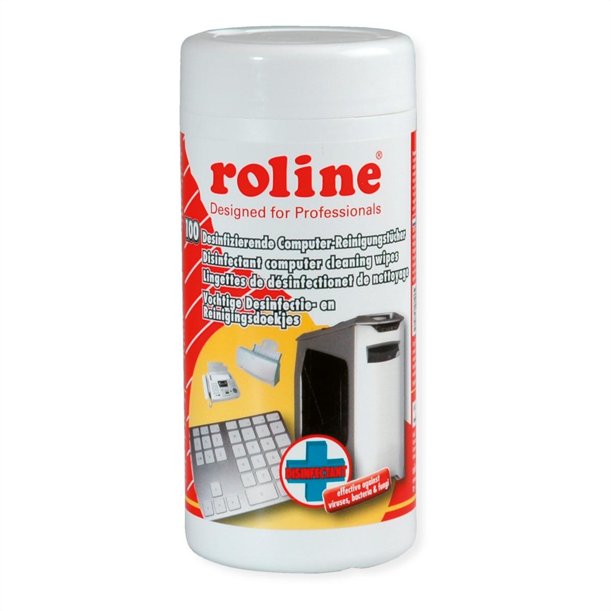 ROTRONIC-SECOMP Desinfizierende Computer Reinigungstücher 100 Stueck