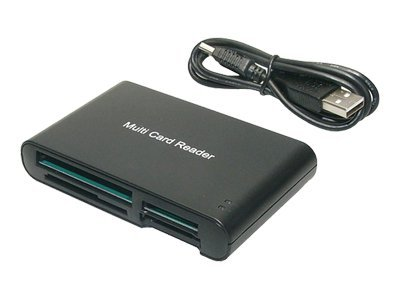 LogiLink Cardreader USB 2.0 55-in-1 - Kartenleser - 55 in 1 (CF I, CF II, MS, MS PRO, Microdrive, MMC, SD, SM, MS Duo, xD, MS PRO Duo, RS-MMC, MMCmobile)