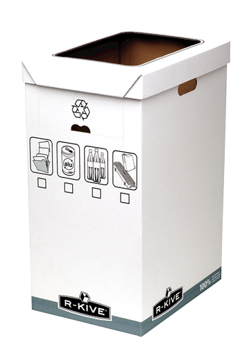 Fellowes R-Kive System Recycle Bin - Grau - Weiß - 300 x 500 x 600 mm - 300 x 500 x 600 mm