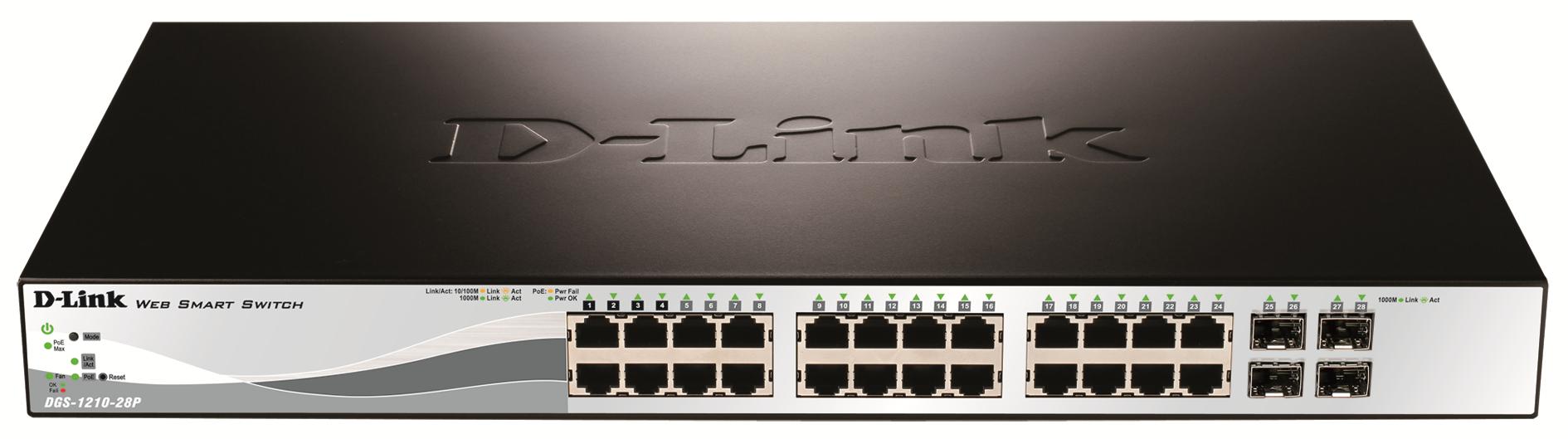 D-Link DGS-1210-28P gemanaged L2 Energie Über Ethernet (PoE) Unterstützung 1U Netzwerk-Switch