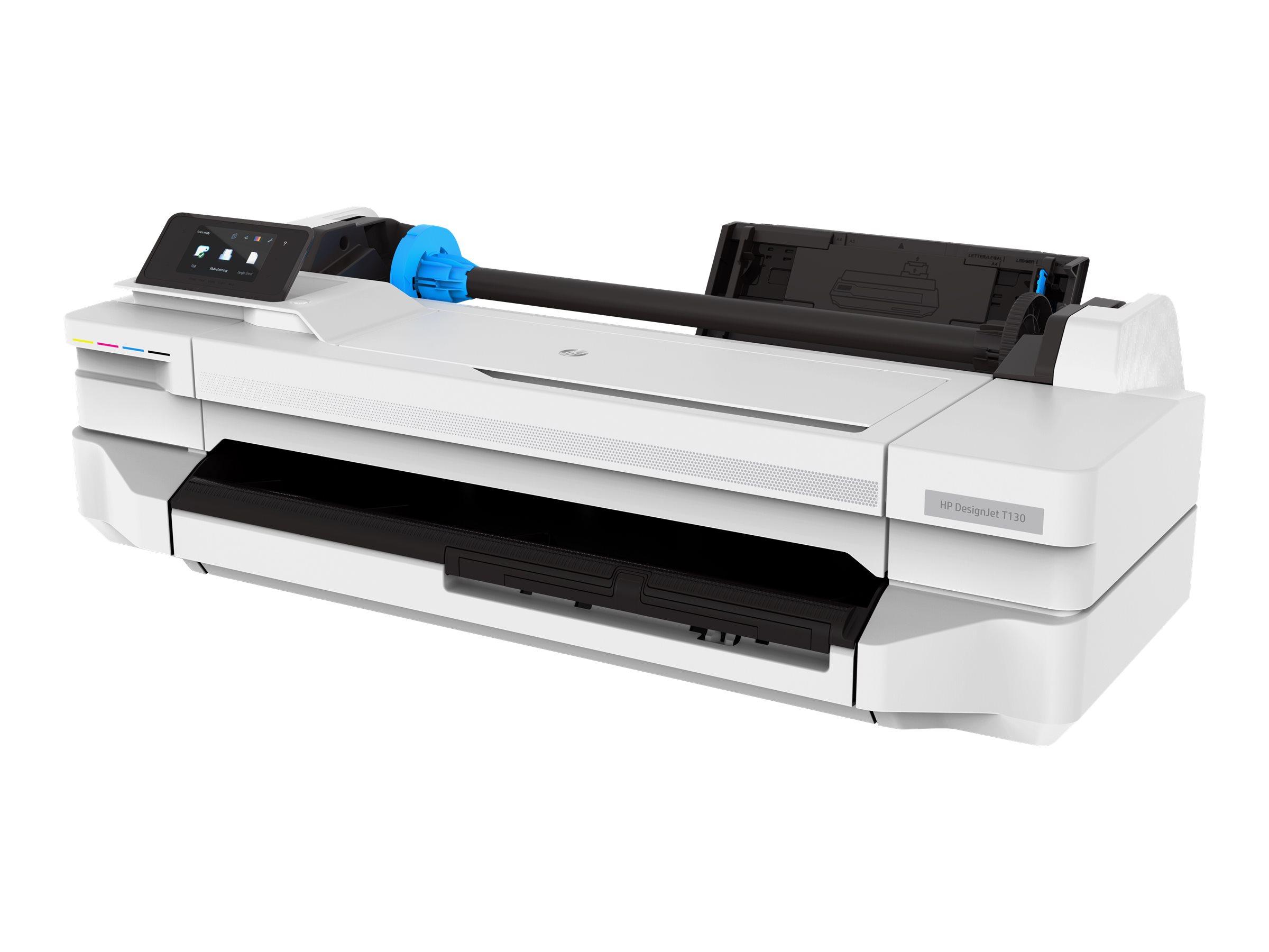 "HP DesignJet T130 - 610 mm (24"") Gro?formatdrucker - Farbe - Tintenstrahl - Rolle A1 (61,0 cm x 45,7 m)"