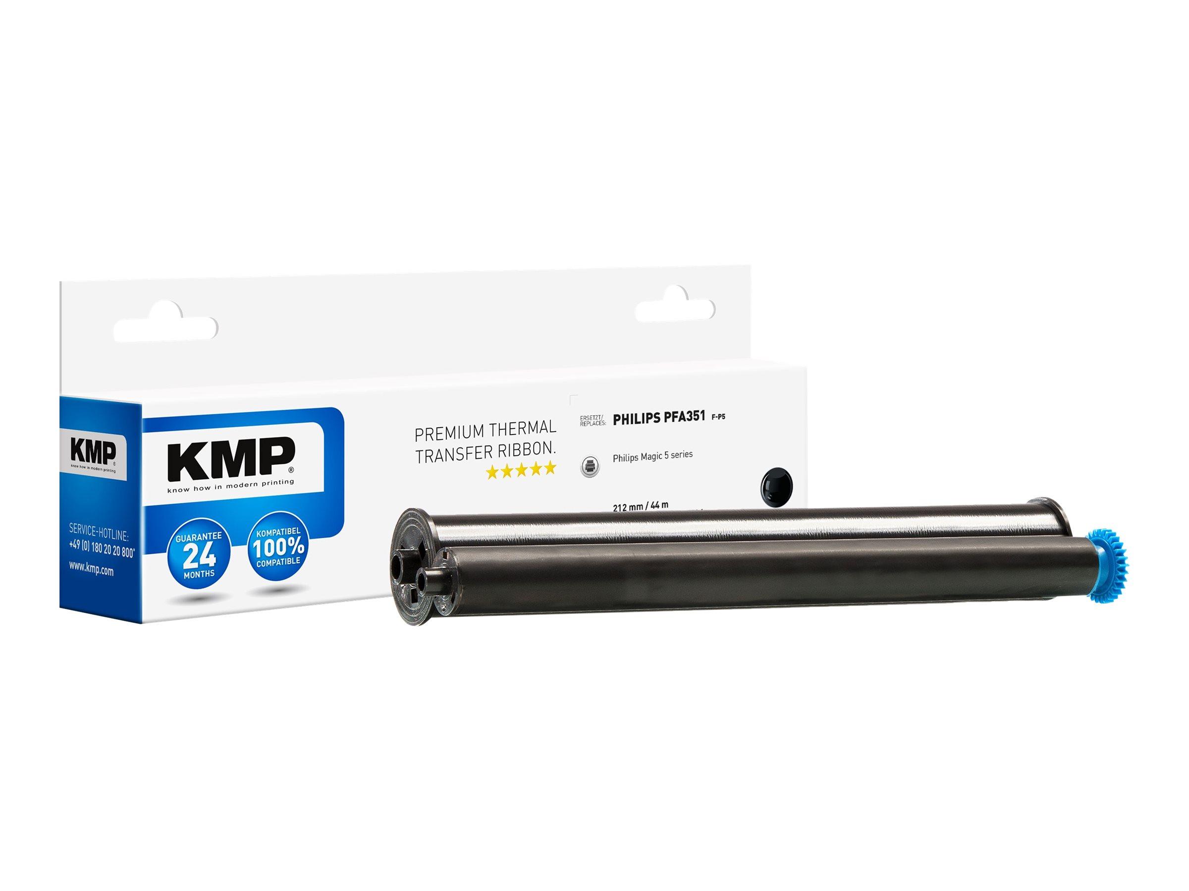 KMP F-P5 - 1 - Schwarz - 212 mm x 44 m - Farbband (Alternative zu: Philips PFA 351, Philips PFA 352)