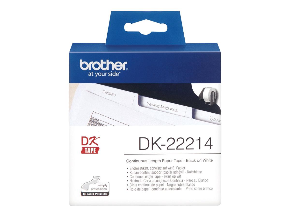 Brother DK-22214 - Weiß - Rolle (1,2 cm x 30,5 m) Thermopapier