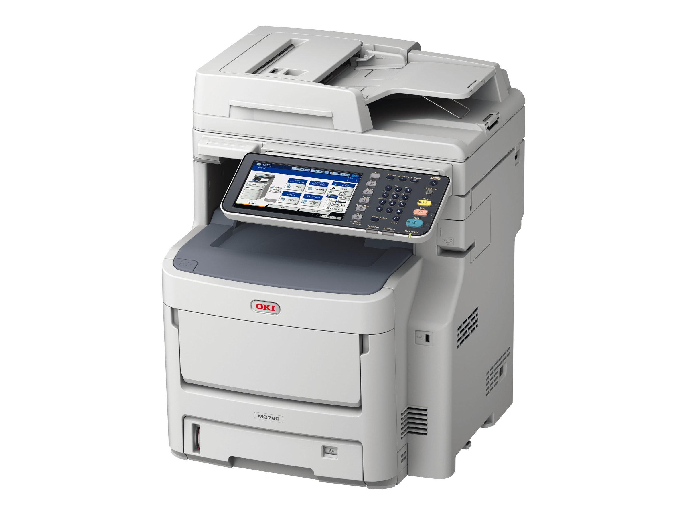 OKI MC760dnfax - Multifunktionsdrucker - Farbe - LED - A4 (210 x 297 mm)