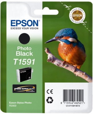 Epson T1591 Photo Black - Tintenpatrone Original - Matt- / PhotoSchwarz - 17 ml