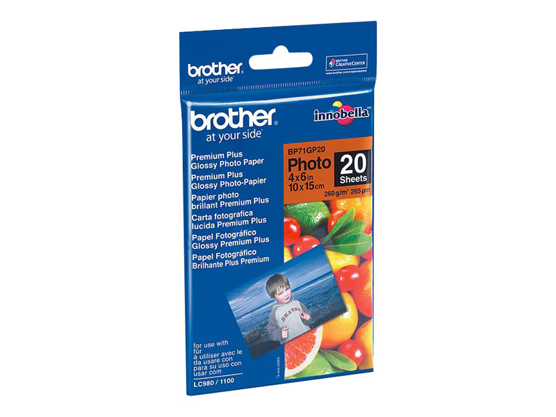 Brother BP - Glänzend - 100 x 150 mm 20 Blatt Fotopapier