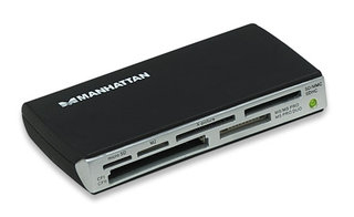 Manhattan Multi-Card Reader/Writer USB 2.0 Schwarz Kartenleser