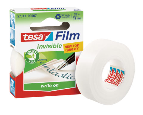 Tesa 57312 - 33 m - Transparent - 19 mm