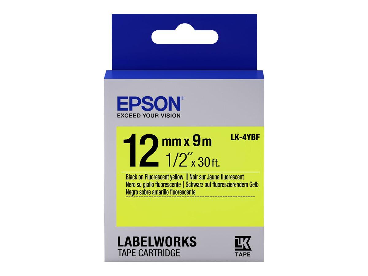 Epson LabelWorks LK-4YBF - Schwarz auf Gelb