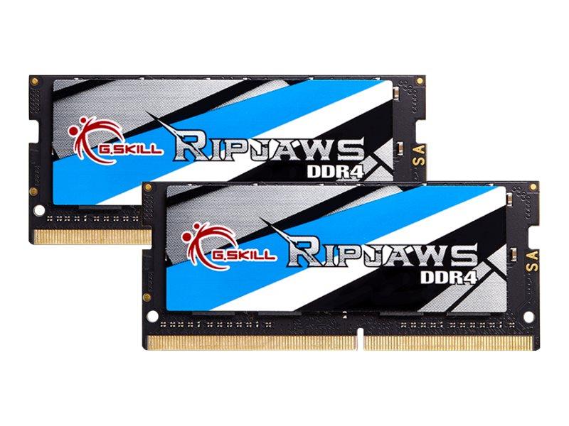 G.Skill Ripjaws - DDR4 - 32 GB: 2 x 16 GB - SO DIMM 260-PIN 3000 MHz / PC4-24000 - CL16 - 1.2 V - ungepuffert - non-ECC