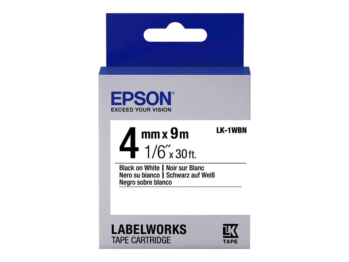 Epson LabelWorks LK-1WBN - Schwarz auf Weiß