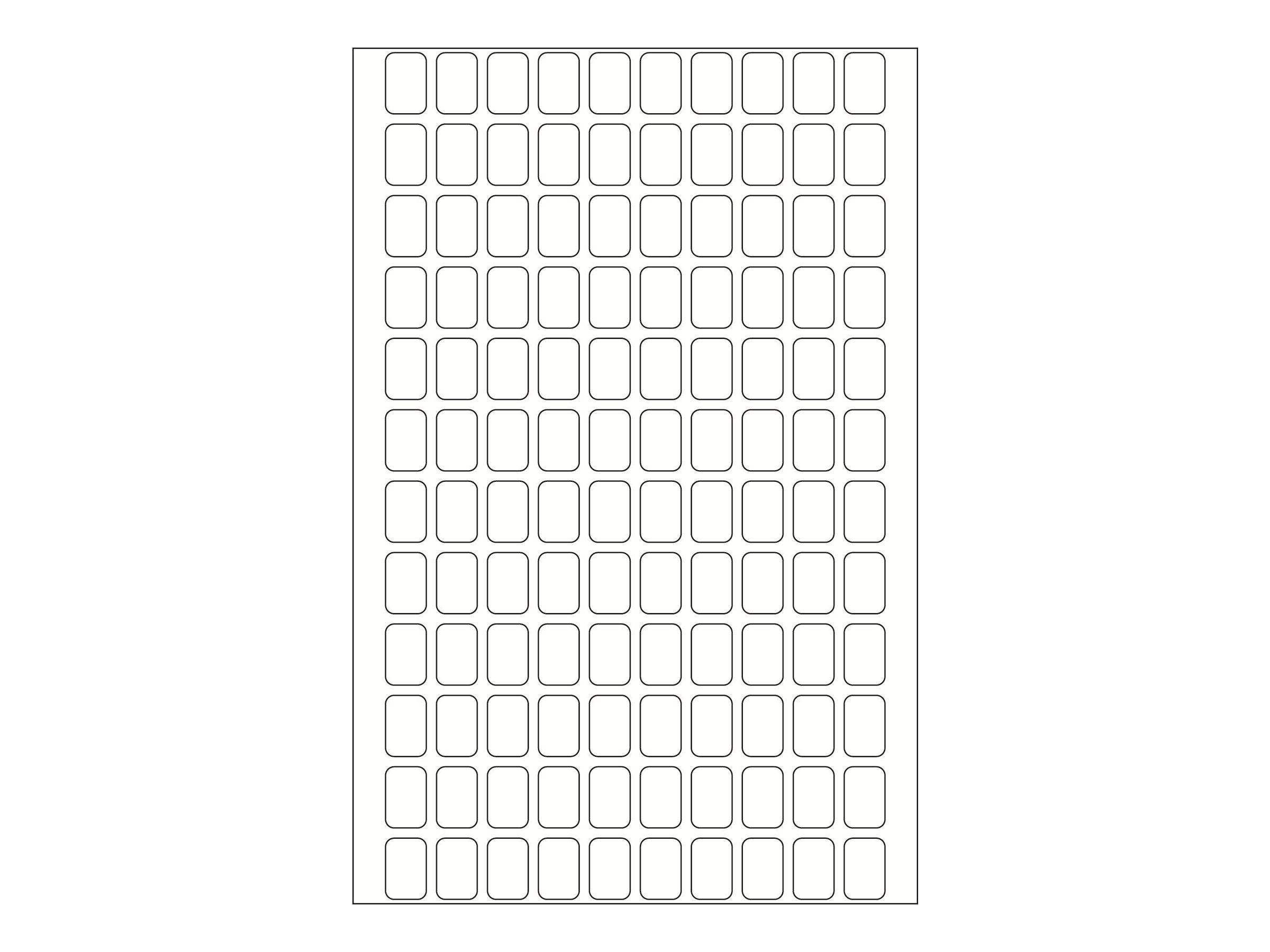 HERMA Papier - selbstklebend - weiß - 8 x 12 mm 3840 Etikett(en) (32 Bogen x 120)