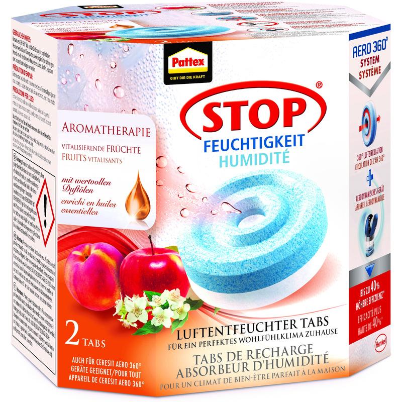 """Pattex - Luftentfeuchter - Nachfüller - """"Frucht"""" - 2 x 450g"""