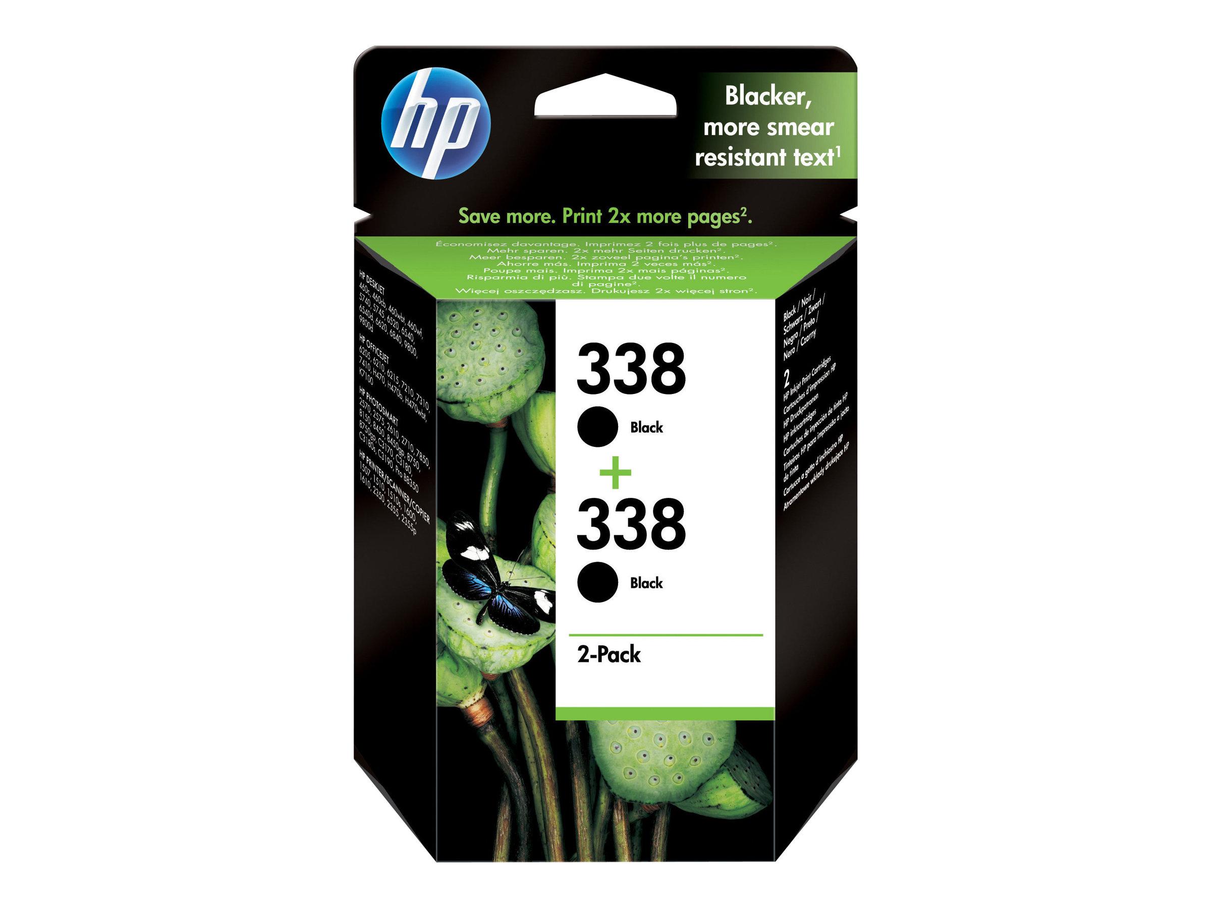 HP Tinte black Nr. 338 (CB331EE) ca. 480 Seiten, Doppelpack