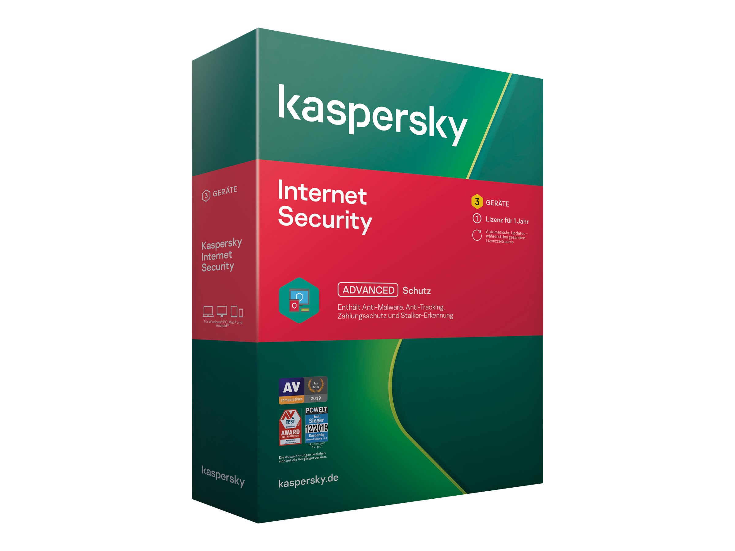 Kaspersky Internet Security 2020 - Box-Pack (1 Jahr)