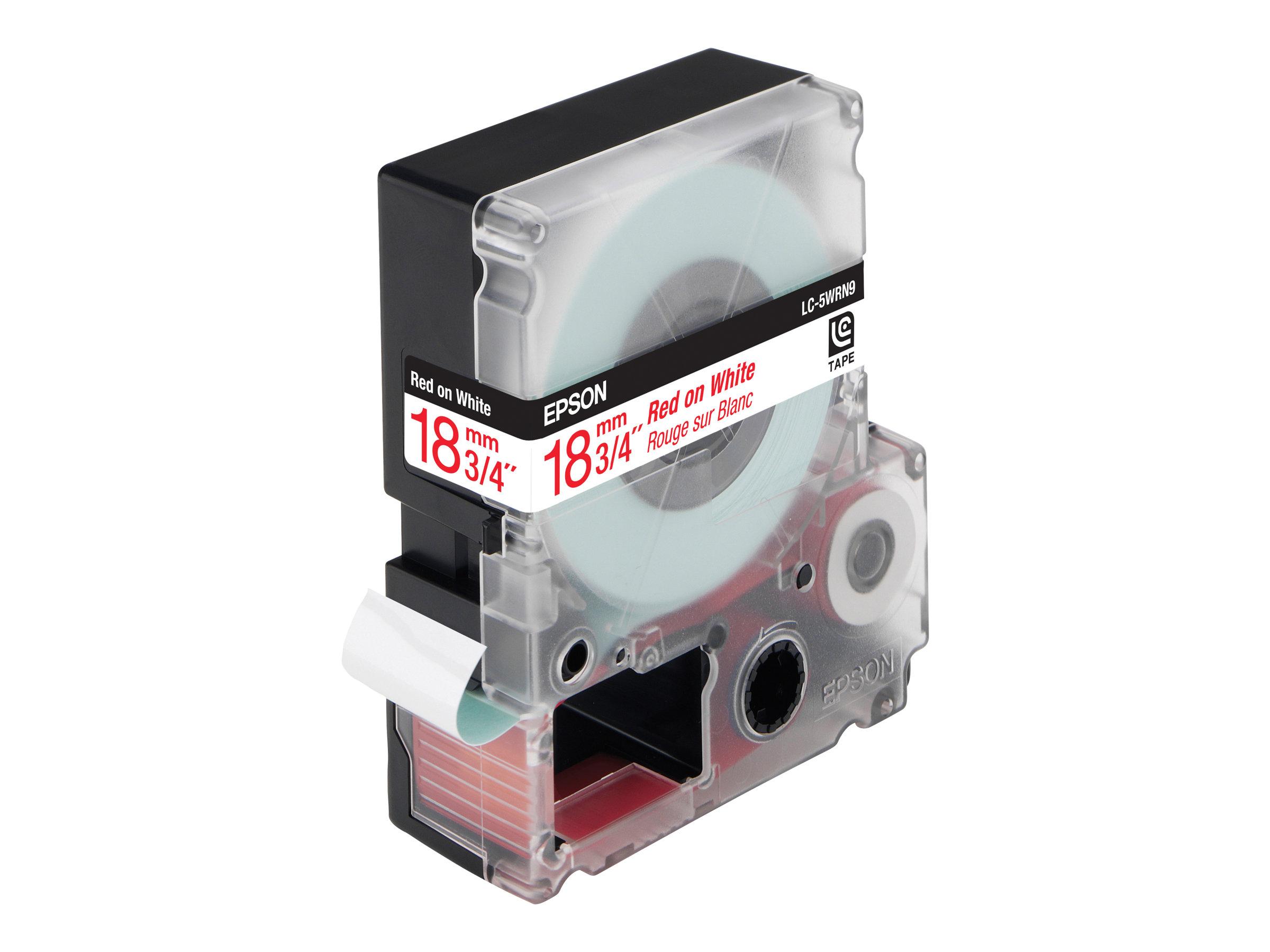 Epson LC-5WRN9 - Rot auf Weiß - Rolle (1,8 cm x 9 m) 1 Rolle(n) Bandetiketten