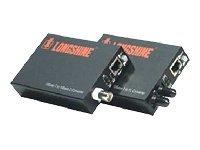 Longshine LCS-883C-TB - Medienkonverter - 10Mb LAN - 10Base-T, 10Base-2 (coax)