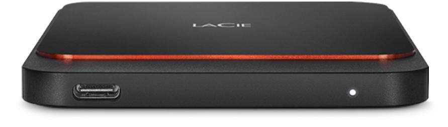 LaCie STHK1000800 - 1000 GB - USB Typ-C - 3.2 Gen 1 (3.1 Gen 1) - 540 MB/s - Schwarz - Orange