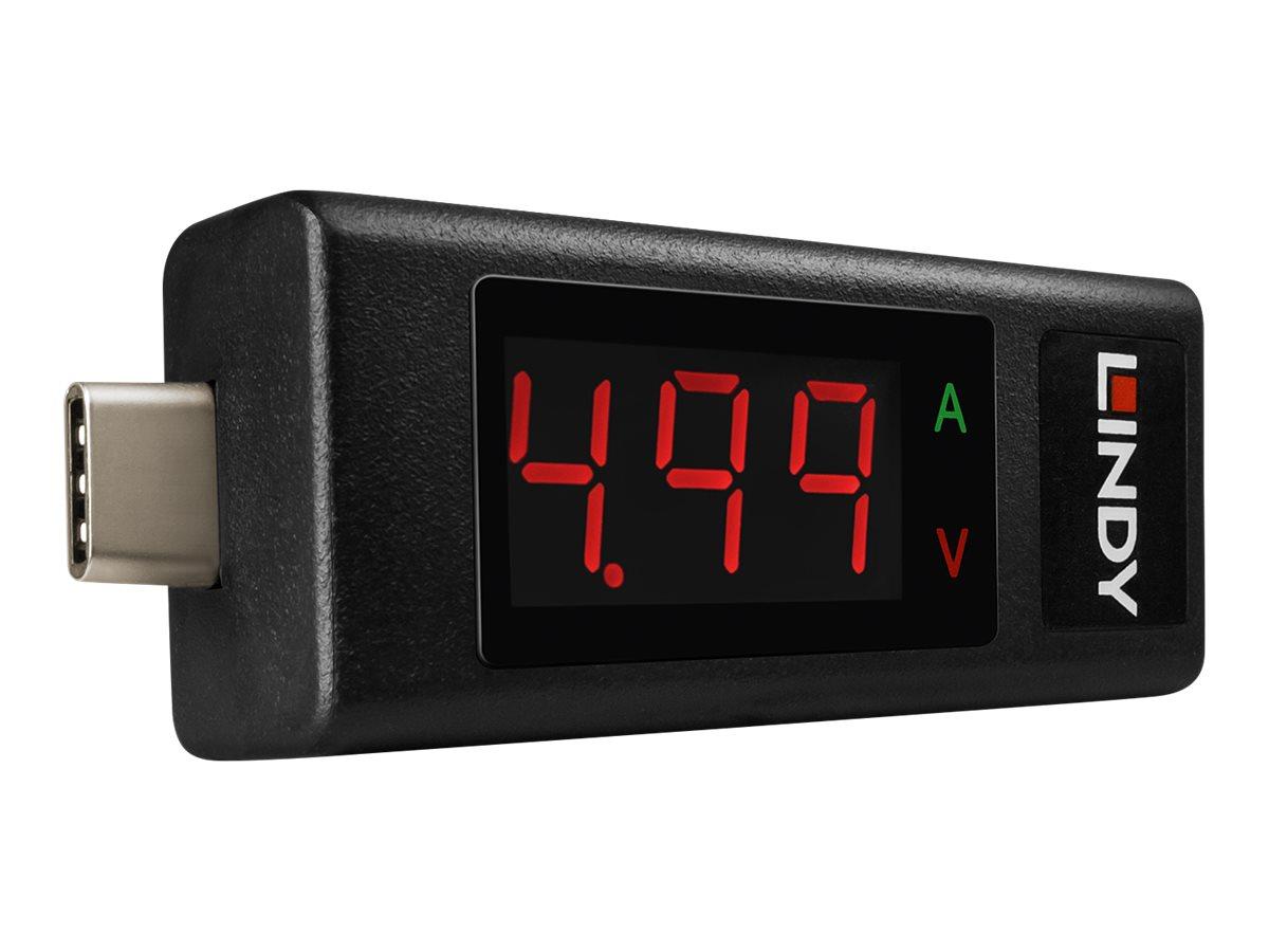 Lindy USB Type C Power Meter - USB-Stromverbrauchmessgerät