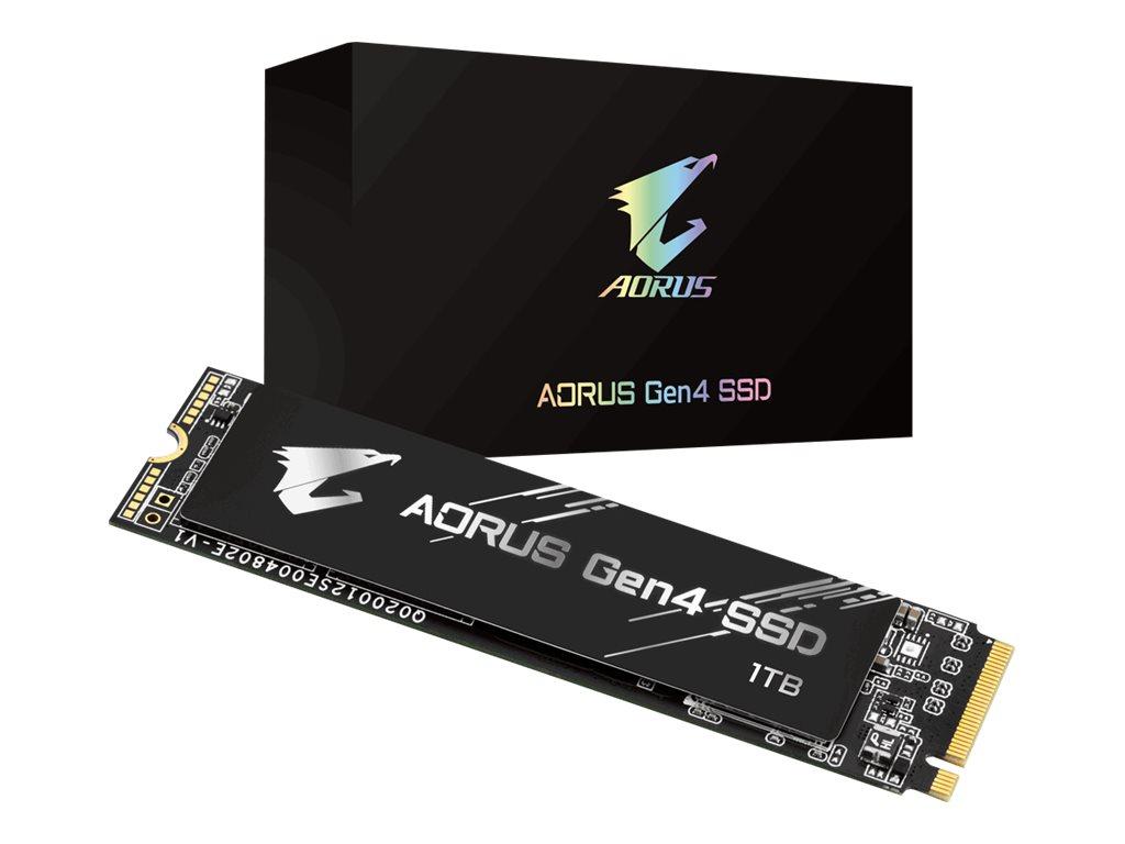 Gigabyte AORUS - 1000 GB SSD - intern - M.2 2280 - PCI Express 4.0 x4 (NVMe)