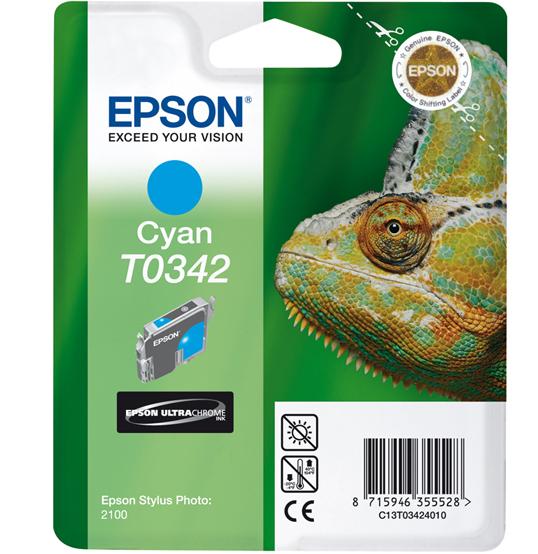 Epson T0342 - Druckerpatrone - 1 x pigmentiertes Zyan
