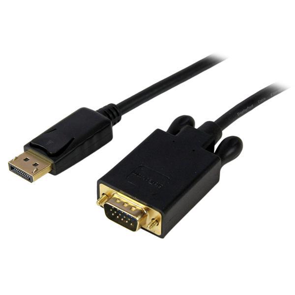 StarTech.com DisplayPort auf VGA Kabel 3m (Stecker/Stecker) - DP zu VGA Kabel Adapter - Schwarz