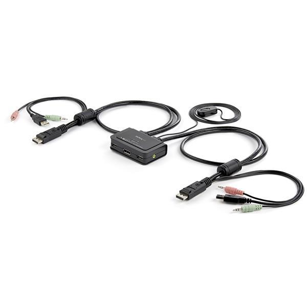 StarTech-com-2-Port-USB-Cable-KVM-Switch-USB-Powered-with-Remote-KVM-Switch